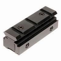 Tri-rail Dovetail 11mm to Weaver Picatinny Rail Adapter