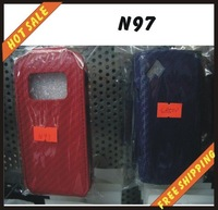Free shipping --New high quality leather cover case for cellphone NOKIA N97