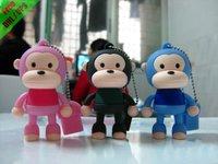Free shipping by UPS/DHL Cartoon monkey 4GB USB flash drive 50pcs/lot