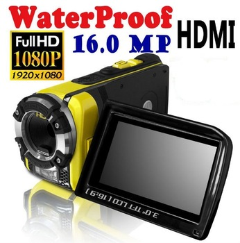 "3.0"" Screen 16 MP FULL HD 1080P Waterproof Digital Video Camera Camcorder HDMI Yellow , Cheap , ipx8 , Free Shipping"
