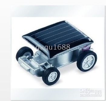 Free Shipping Mini Solar Powered Robet Racing Car Fun Gadget For Kids