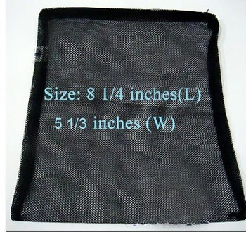 10PC/Lot Filter zipper Media Bag Net Sock Black for Aquarium Pond Tank Fish Koi bio balls Activated Carbon Bulk Wholesale