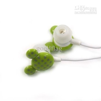mp3/mp4 lovely earphone gift 12colors 1.2m cord length noise-cancelling 3.5mm(f235) mini earphone for MP3/MP4