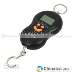 40KG 20g Protable Electronic Scale Digital LUGGAGE FISH FISHING HANGING Scales Black(China (Mainland))
