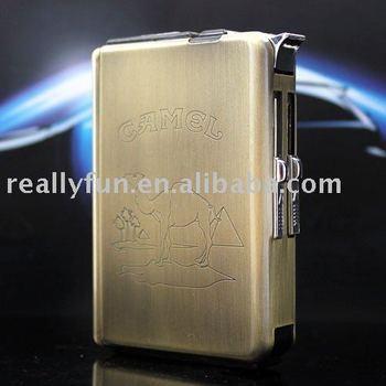 Fashion Automatic Ejection Butane Lighter Cigarette Case,2 in 1 Automatic Lighter Cigarette Case,Multifunction Cigarette holder
