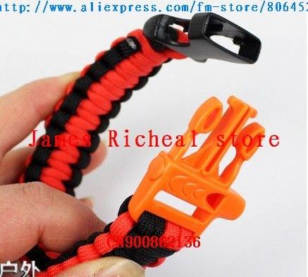 100pcs frete grátis / muito ganhar popularidade, oferta especial Para- Cord Survival Bracelet(China (Mainland))