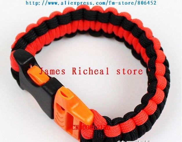 Frete grátis 100pcs/lot Ganhe popularidade, oferta especial Para-Cord Survival Bracelet(China (Mainland))