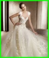Free shipping wholes and retail lace cap sleeve ballgown wedding dress 2011 aglaya