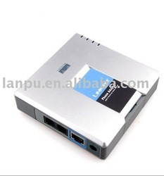 Free Shipping !UNLOCKED LINKSYS PAP2 PAP2-NA SIP VOIP Phone Adapter 2 Port(China (Mainland))