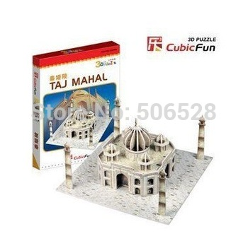 1PC Only Freeshipping Creative 3D Paper Puzzle Toys Of TAJ MAHAL Kids&Family Educational Paper Model Toys Christmas Gift To Kids