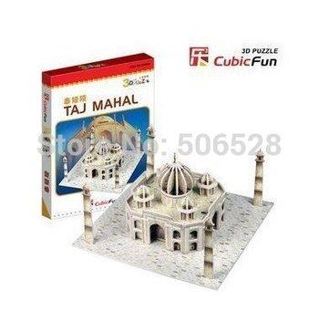 Free Shipping 2011 Hot Selling 3D paper puzzle Toy of Mini TAJ MAHAL;DIY Paper Puzzle;Educational Model