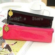 Patent leather, elegant Obscure, pencil case,pen bag,pen case(10 pieces/lot)EMS 45%discount