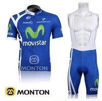 FREE SHIPPING 2011 Tour de france new movistar team cycling jersey+bib shorts size S-XXXL I can mix size
