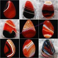 Mixed Shape - 20Pcs/Lot New Beautiful Stripes Veins Agate Onyx stone Pendant Bead Wholesale