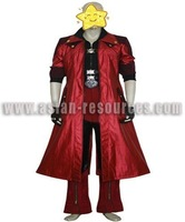 Freeshipping Hot Selling low price Cheap Cosplay Costume C0304 Devil May Cry IV 4 Dante