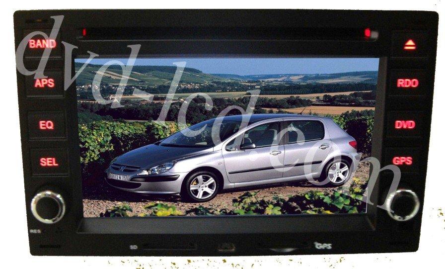 Peugeot 307/Passat GOLF POLO car dvd player GPS navigation head units Bluetooth Ipod HD LCD(China (Mainland))