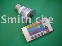 Dimmable e27 3W RGB LED Bulb Light Lamp 16 Color Change w/Remote Control ac 85v-240V