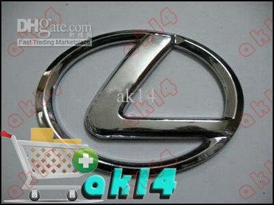 Lexus Car Modified Steering Wheel Car Badge Emblem 6.5CM*4.9CM Silver 160pcs High Quality AK14(China (Mainland))