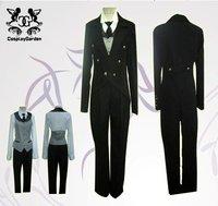 Freeshipping Hot Selling low price Cheap Cosplay Costume C0401 Black Butler Sebastian
