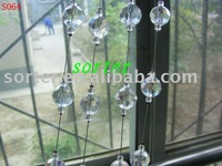 unique fashional decorative string curtain with crystal ball chain