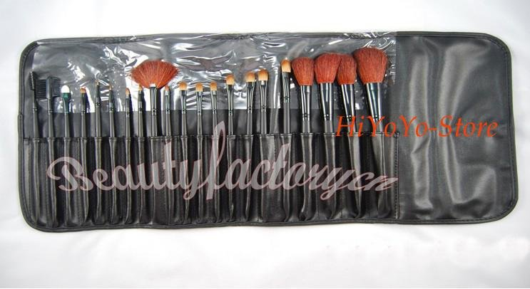 wholesale~21 pieces Make-up makeup brush set with case brand new 10pcs/lot+ free shipping(China (Mainland))
