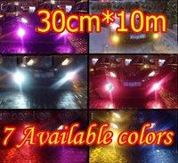 Brand NEW Retail Thin PVC Car Fog lights Film, Tail lights Film, Headlights Film For Benz BMW Porsche Etc 30cm*10M 7 Colors