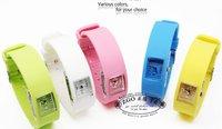 Free Shipping Fashion Wrist sport Watch 1ATM waterproof anion silicone watch50psc/lot