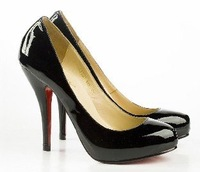 Sexy black patent leather high heels shoes women's high heels pumps shoes high heels dress shoes