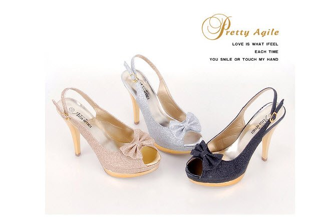 Summer fashion shoes sexy high-heeled platform flip bow ~ fish head waterproof sandals(China (Mainland))