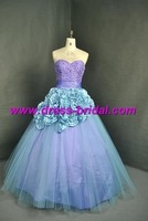 Popular Taffeta and Net  Sleeveless Free Shipping Eveving Dress&Prom Gown