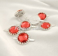 FREE SHIPPING -- RED  50PCS NEW Diamante Brad Wedding Stationary Favor Craft