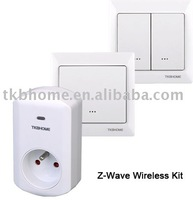 Free Shipping Z-Wave Wireless Switch Kit(1xFrench Plug-in Socket, 2xWall Switch)