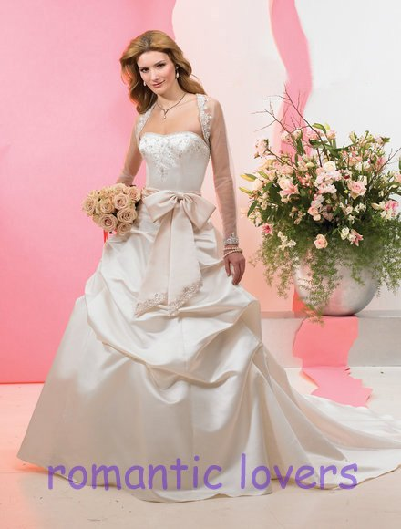 LSE3147 free shipping 2011 embroidery pick up with beauty jacket wedding dress(China (Mainland))