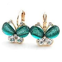 Free ship Pretty butterfly earrings(China (Mainland))