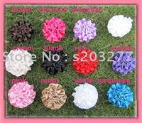 Wholesale - 36pcs/lot 11colors for your choose 3''Satin flowers Free Shipping