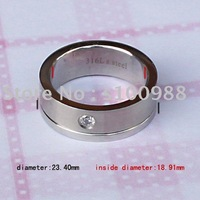 High Quality S.S316L Good Polished CZ Stainless Steel Jewelry  10PCS/Lot Assorted Styles Free Shipping