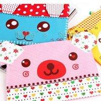 Cute animals, cartoon animals, pencil case,pen bag,pen case(10pieces/lot).
