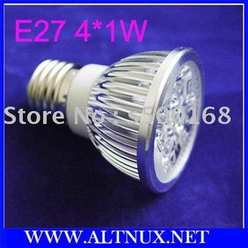 Free EMS Shipping E27 Led Bulb 85~265V 4W Cool white Energy Saving Bulb 4x1 led 50pcs/lot RS07