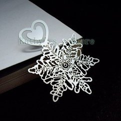 bookmark,book mark,Carved metal bookmarks, silver snowflake bookmarks(10pieces/lot) EMS,45%discount