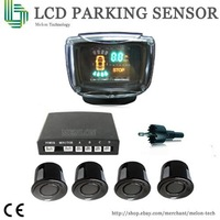 free shipping more than 64 colors for choice Car LCD Display 4 Parking Sensor Reverse backup Radar