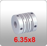 CNC Stepper Motor Flexible Coupling Coupler 6.35x8mm Router Mill