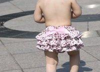 Hot seller Pink Leopard ruffle bloomer baby underwear girls petti baby pants pink underwear for kids 30pcs/lot