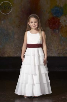 2011 100% Guaranteed Popular cheaper FL0100 High-quality Chiffon Lovely Flower Girl Dress