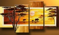 """Modern Oil Painting On Canvas:""""Elephant"""" Guaranteed 100% Free shipping"""