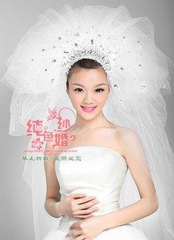 Bridal veils,3 layers bridal wedding veil,extra long bride dress veil 250CM,3pcs/lot+freeshipping