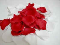 new 1200pcs WHITE/ Red 2'' silk rose petals for wedding party / Family  Decoration