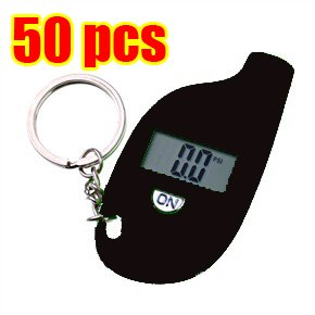 50Pcs/lot 100% brand new In Retail Packed Portable Mini LCD Digital Tyre Electronic Tire Pressure Gauge / meter(China (Mainland))
