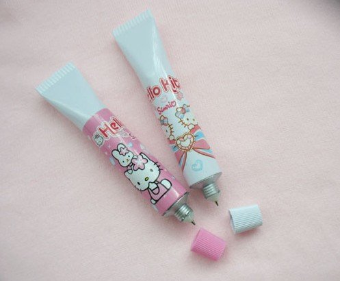 cartoon kitty toothpaste shape ball pens kid's favor gift promotional pen strange creative ,wholesale free shipping,30pcs/lot(China (Mainland))