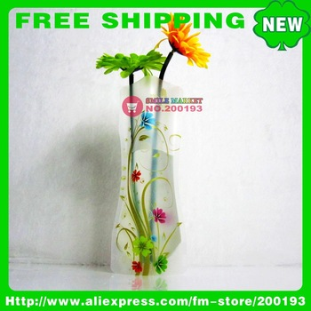 FREE SHIPPING 100PCS/LOT ASSORTED COLOR&STYLE P30-2 UNBREAKABLE ECO-FRIENDLY PVC FOLDABLE VASE HOME DECORATION NEW PRODUCT IDEAS