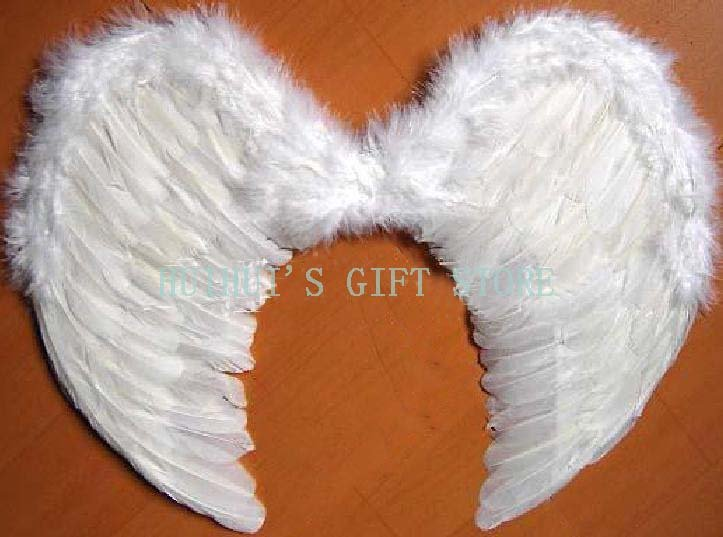 FREE SHIPPING White Feather wing/Angel wing/Fairy wing/Party accessories/Performance accessories XL:82*54cm 5pcs/lot(China (Mainland))